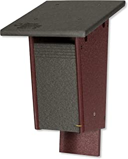 product image for DutchCrafters Sparrow Resistant Bluebird Poly House - Post or Wall Mount (Gray & Cherry Wood)