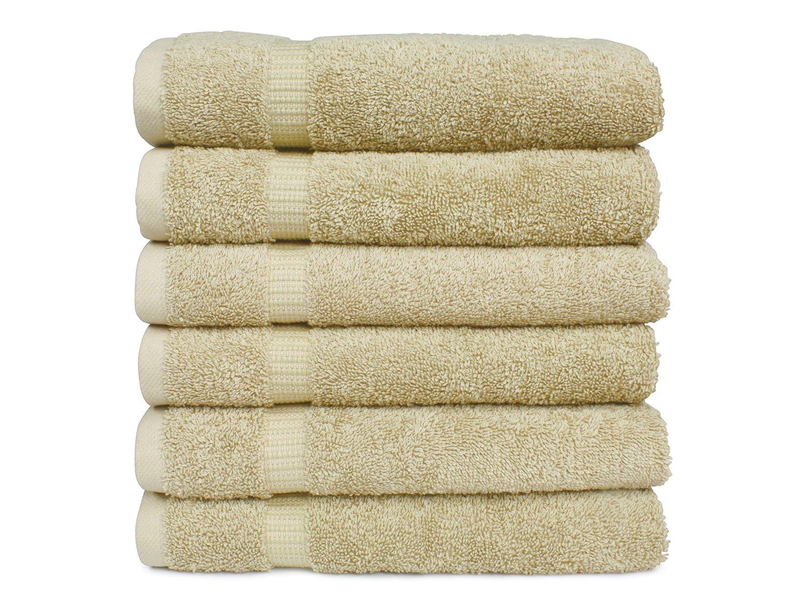 [NEW] PLS Home Premium Towels 700 GSM, 6-Pack Hand Towels, Towel Set, Beige