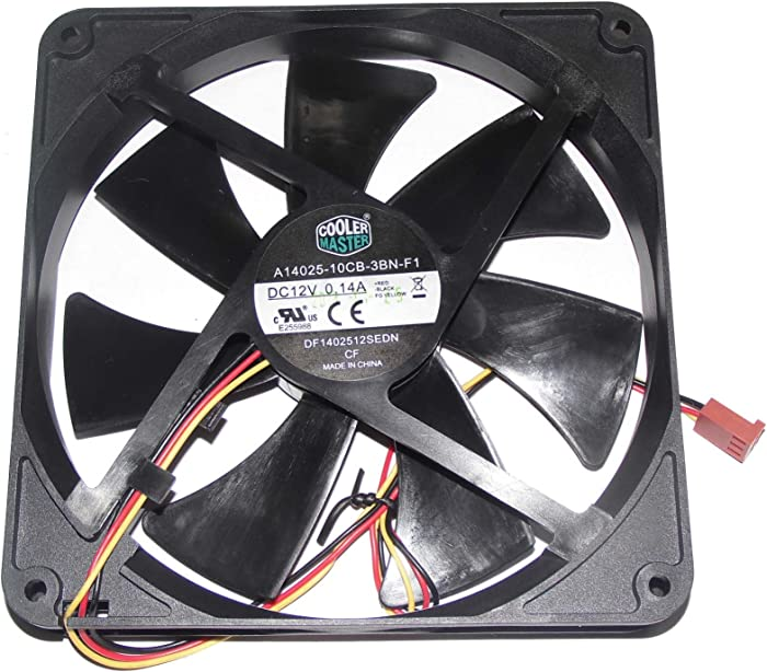 Cooler Master 140*140*25mm A14025-10CB-3BN-F1 14cm DF1402512SEDN 12V 0.14A 3Wire Case fan