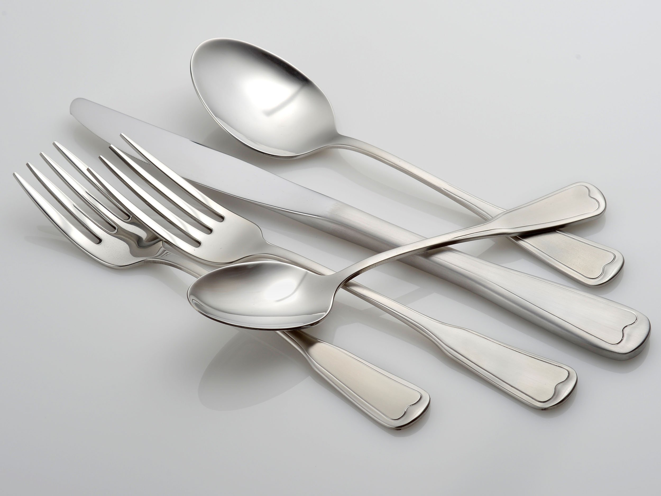 Liberty Tabletop Satin Richmond 20 Piece Flatware Set service for 4 stainless steel 18/10 Made in USA by Liberty Tabletop (Image #2)
