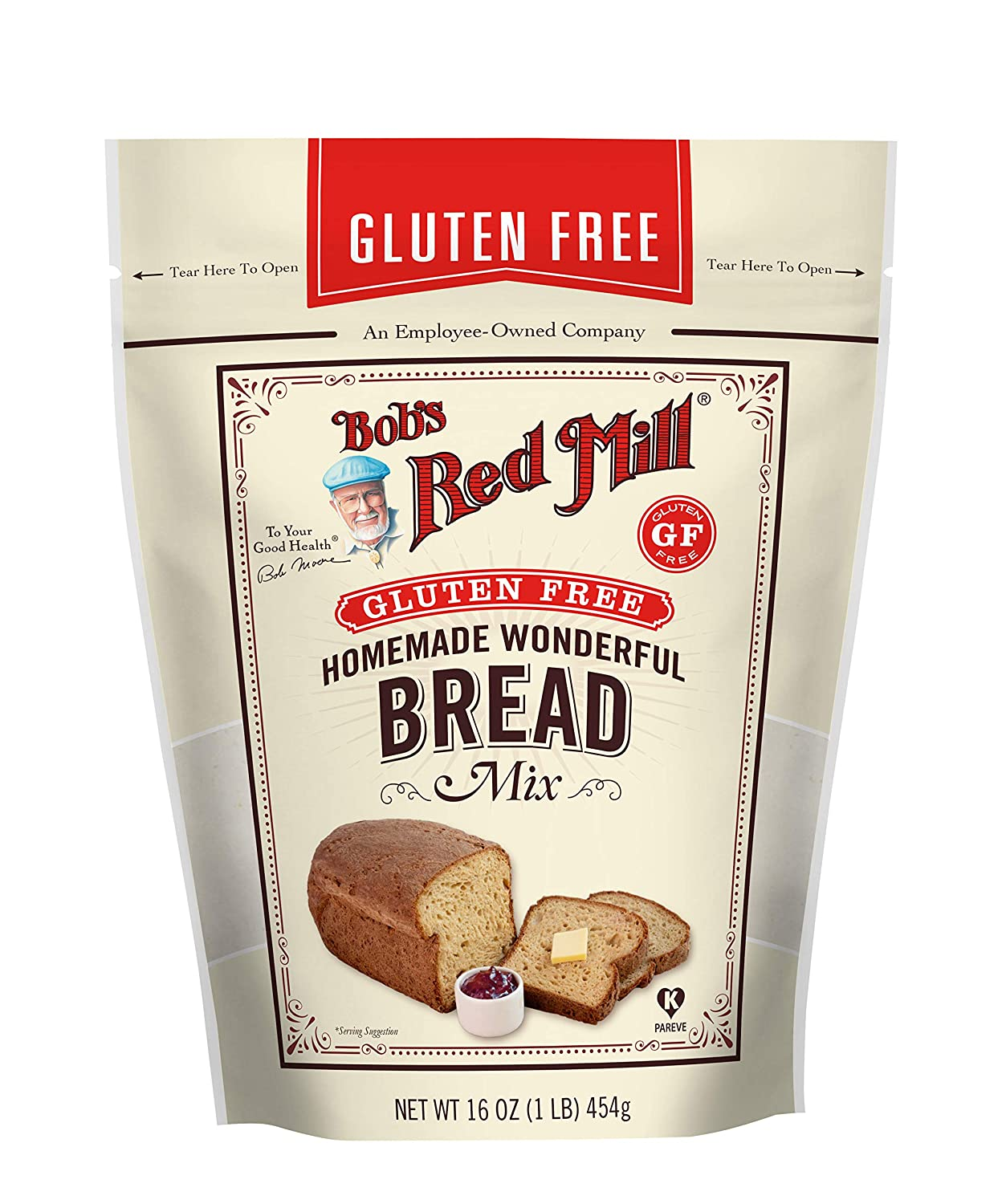 Bob S Red Mill Gluten Free Homemade Wonderful Bread Mix 16 Ounce Pack Of 4 Packaging May Vary Almond Flour Bobs Red Mill Grocery Gourmet Food