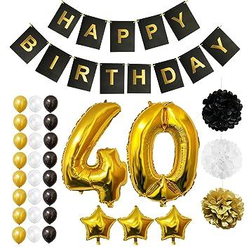 BELLE VOUS Globos Cumpleaños Happy Birthday, Suministros y Decoración Globo Grande de Aluminio - Decoración