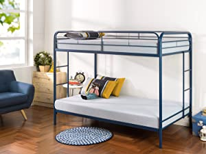Zinus Easy Assembly Quick Lock Metal Bunk Bed Dual Ladders