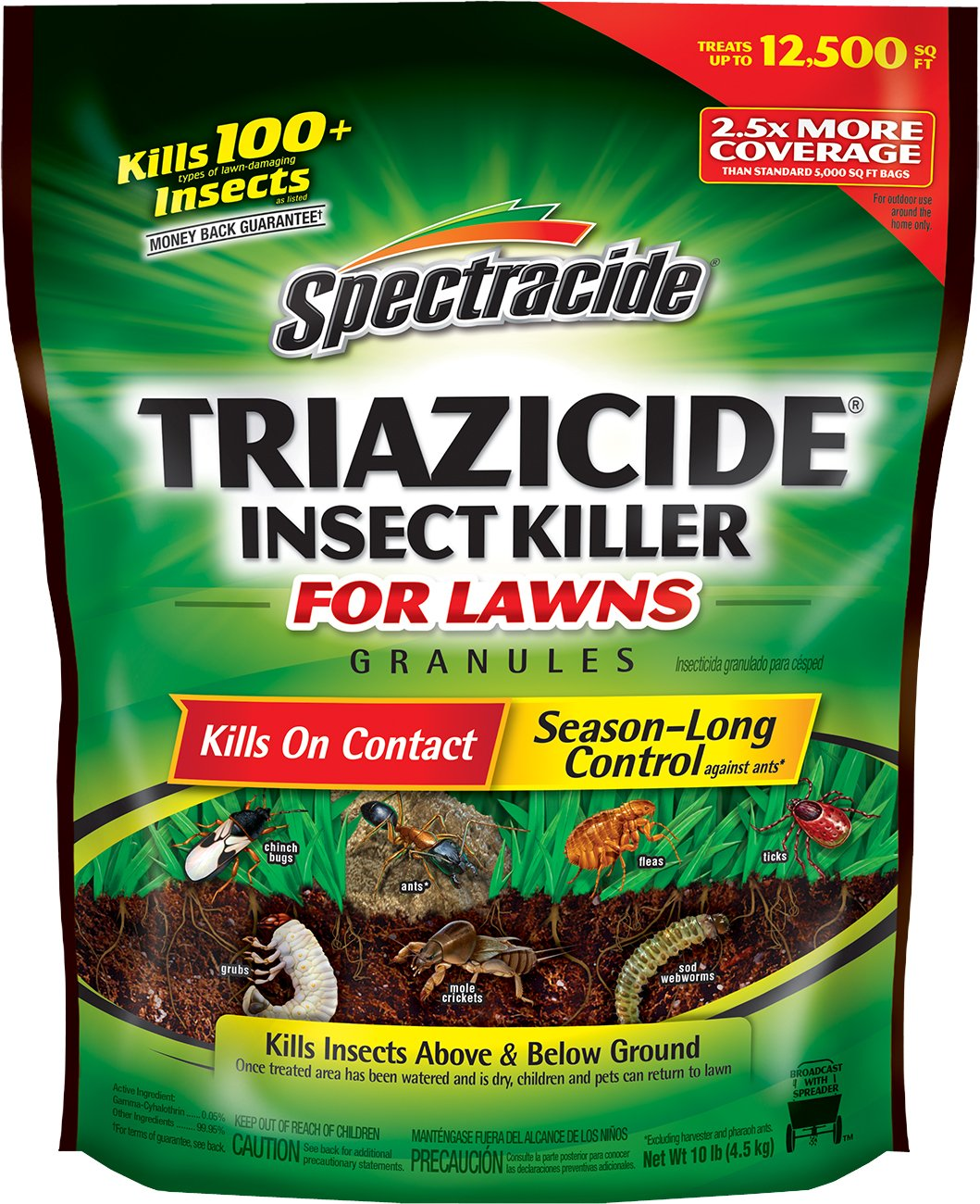 Spectracide Triazicide Insect Killer For Lawns Granules, 10-Pound, 4-Pack by Spectracide