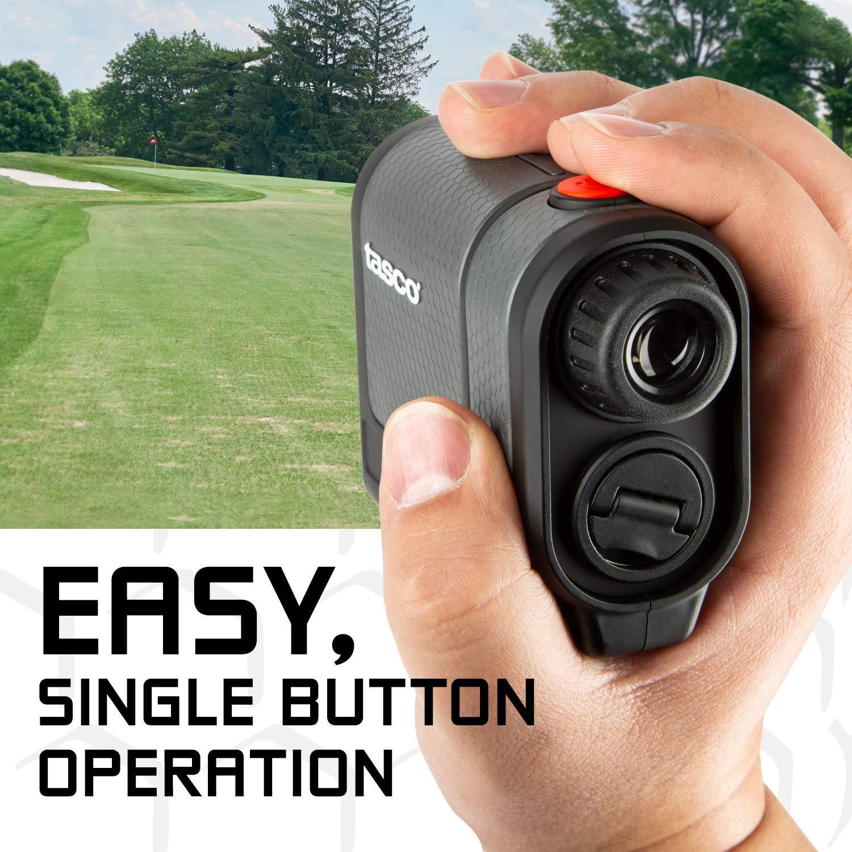 Tasco Tee-2-Green Standard Version Golf Laser Rangefinder PlayBetter Pack 2019 Release 5X Mag, 1 Yard Accuracy, Scan Mode, Case Microfiber Towel Two CR2 Batteries
