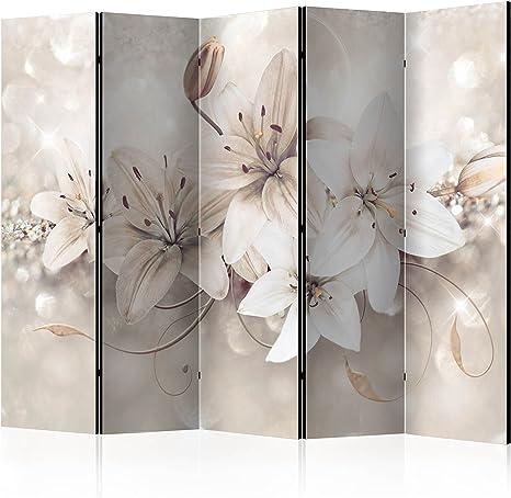 murando plegable Protector de tablón de corcho y 225 x 175 cm | doble cara papel impreso tela | 100% opaco Premium calidad | Niza en Touch | pantalla plegable de con