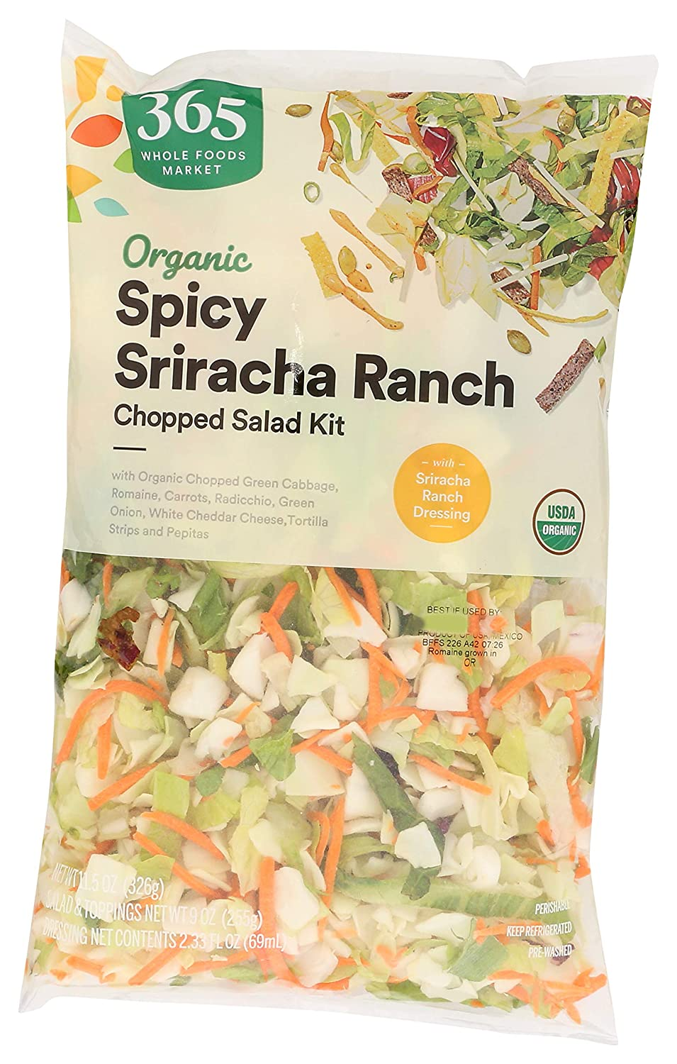 365 Everyday Value, Organic Salad Kit, Spicy Ranch, 11.5 oz
