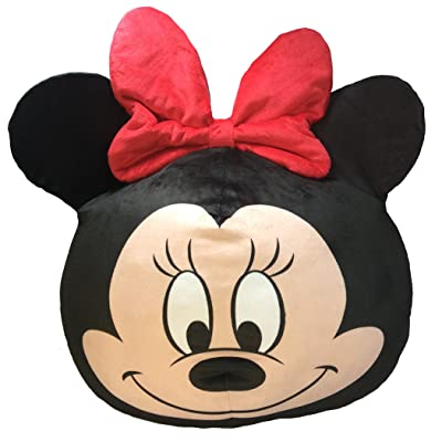 """Disney's Minnie Mouse, """"Minnie Clouds"""" 3D Ultra Stretch Pillow, 11"""" Round, Multi Color: Home & Kitchen"""