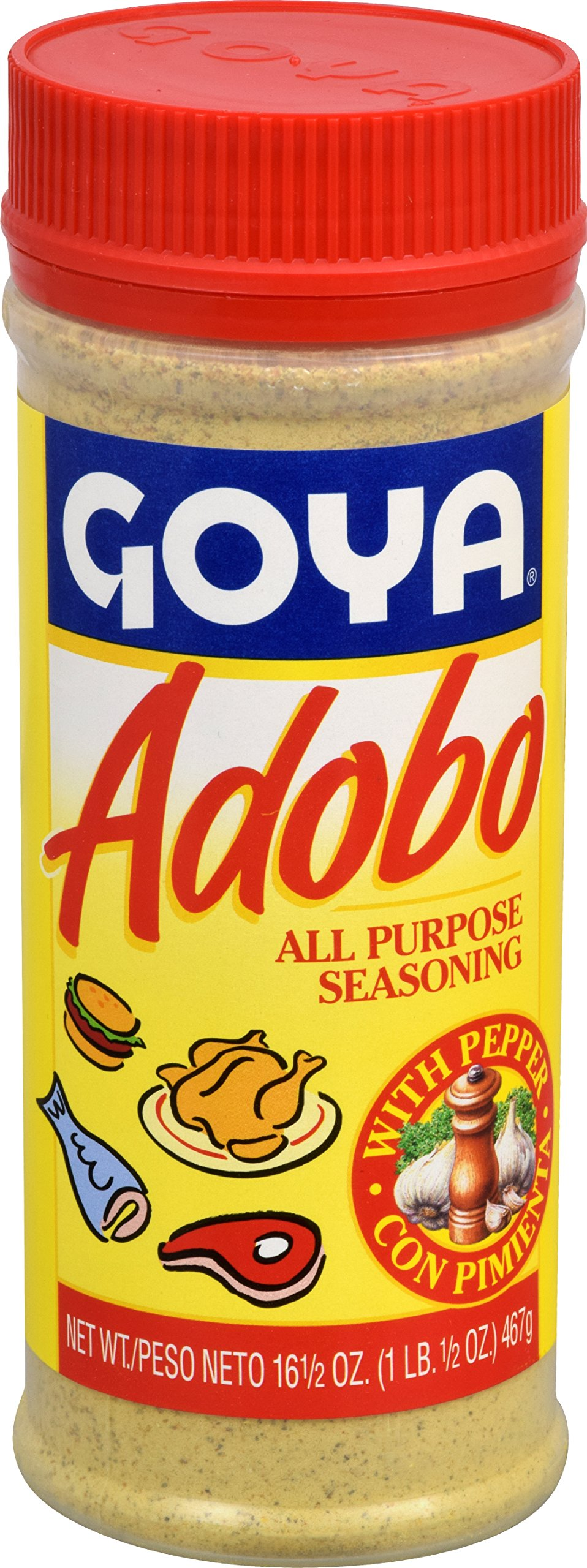 Goya Foods Adobo with Pepper, 16.5-Ounce (Pack of 24)
