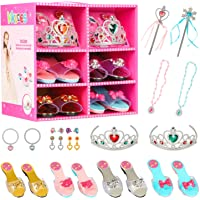 Princess Jewelry Boutique Dress Up and Elegant Shoe(4 Pairs of Girls Heels Shoes),Role Play Fashion Accessories of…