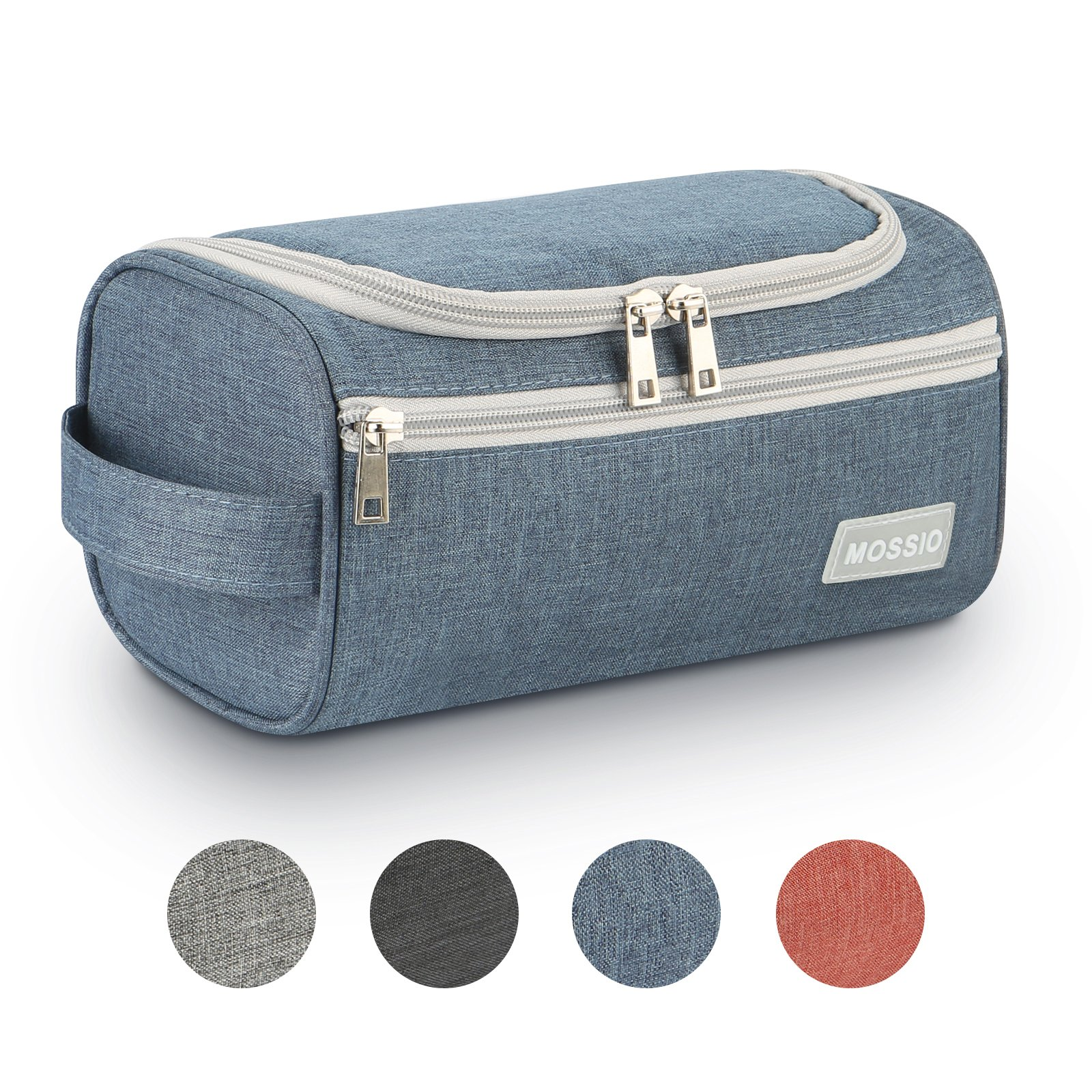 Toiletry Bag,Mossio Vintage Travel Luggage Organizer Storage Pouch Great Gift with Handle Blue