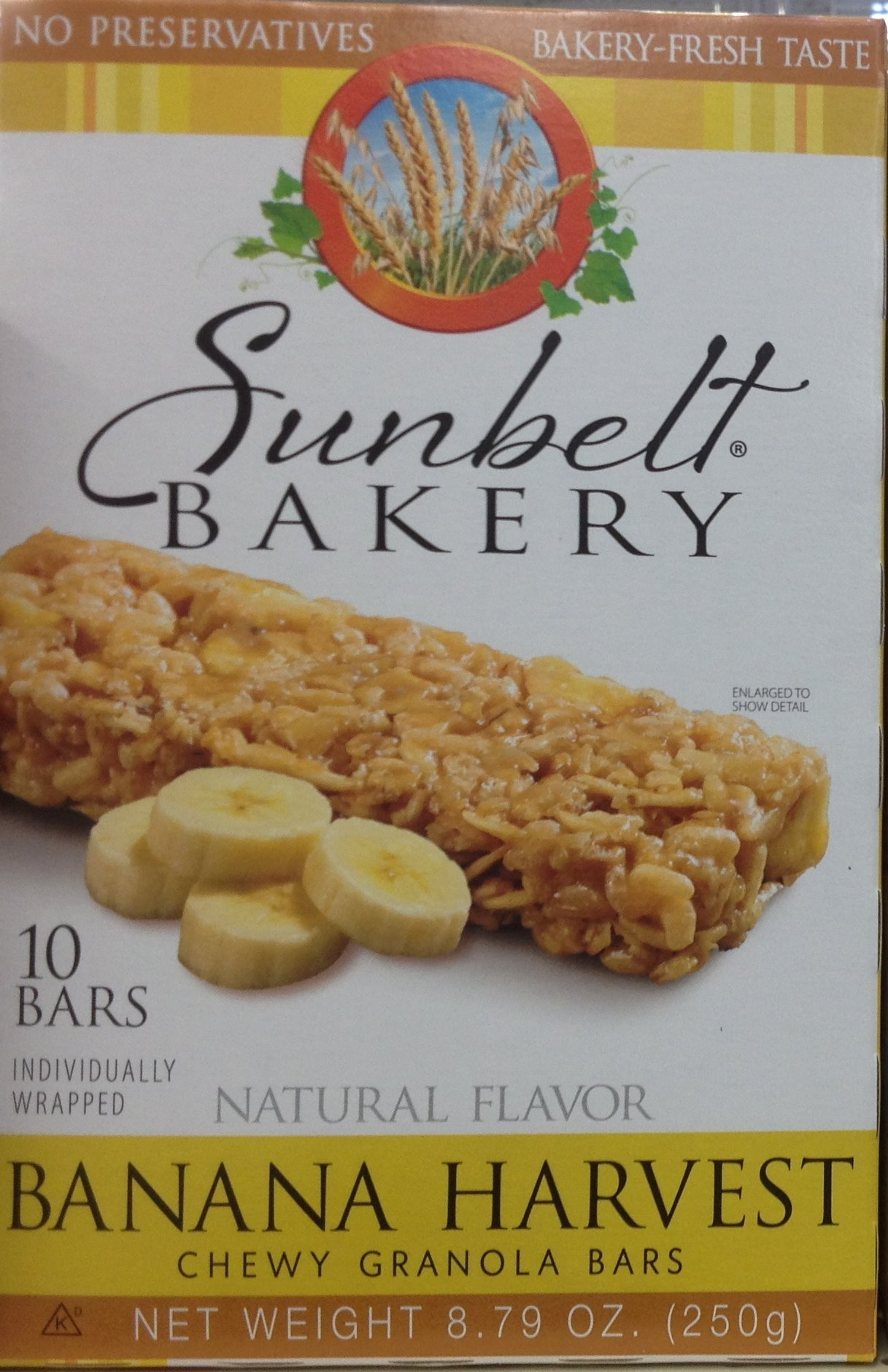 Natural Flavor BANANA OAT Chewy Granola Bars 8.79 (8 Boxes)