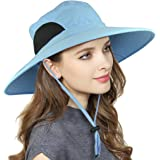 EINSKEY Men's Wide Brim Sun Hat, Waterproof Sun Protection Bucket Hat Boonie Safari Cap for Summer Outdoor Fishing Hunting Desert Hawaiian