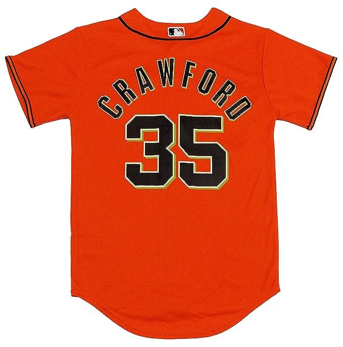timeless design e8ce9 21e29 Amazon.com: Brandon Crawford San Francisco Giants Orange ...