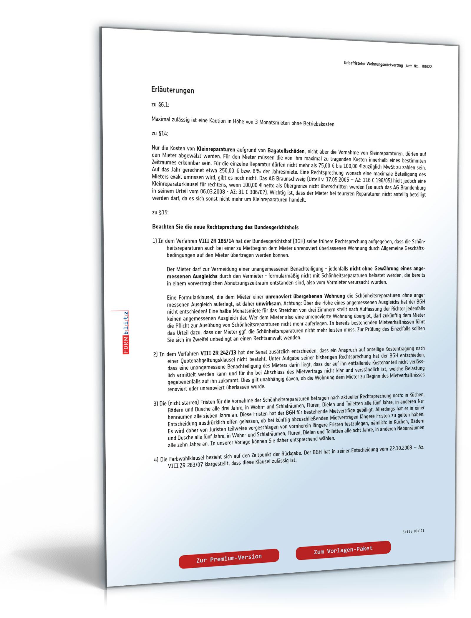 Mietvertrag Wohnung - PDF kostenlos zum Download [Download]: Amazon ...