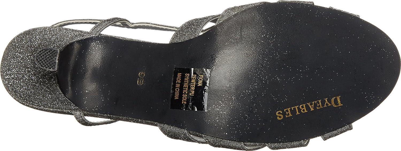Dyeables, Inc Womens 7.5 Fiona Dress Sandal B00ZWNCK7Q 7.5 Womens W US|Pewter Sparkle 23b820