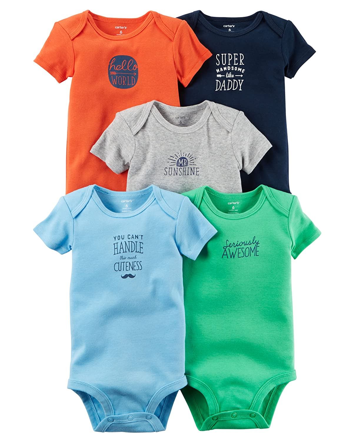 Carter's Baby Boys' Multi-pk Bodysuits 126g402 Carters