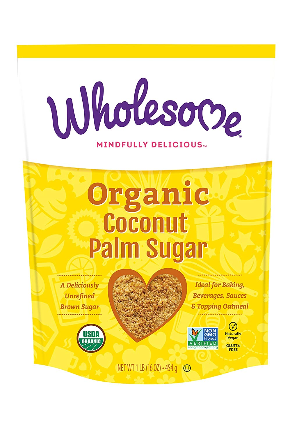Wholesome Sweetners Coconut Sugar 1 Lb Amazon Com Grocery Gourmet Food