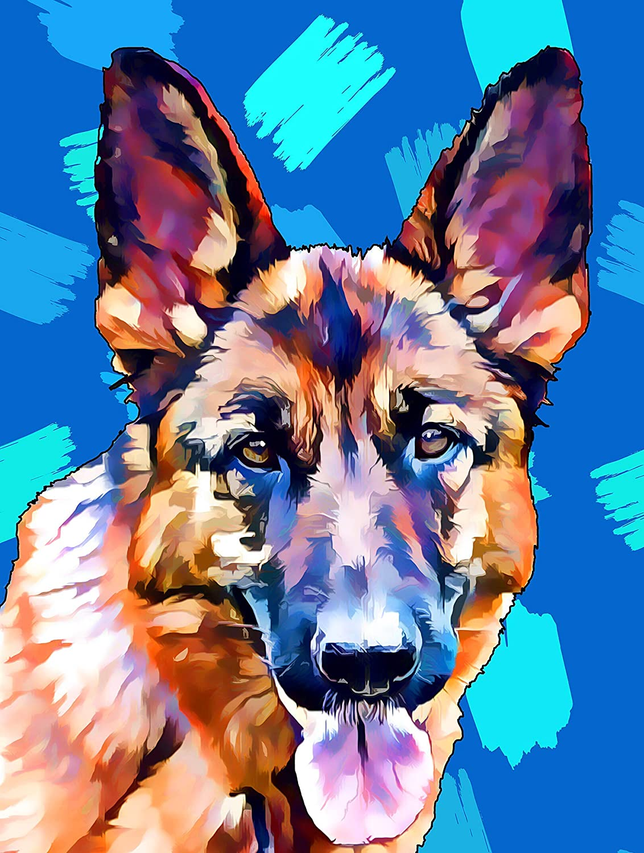 Custom Pet Portrait, Artwork, Dog, Cat, Paintings, Print, Fine Art