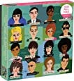 """Galison History of Hairdos Puzzle, 1, 000 Pieces, 20"""" x 27'' – Illustrations of 24 Well-Known Hair Styles from 1870-1990 - Thick, Sturdy Pieces – Challenging, Makes a Great Gift, Multicolor"""