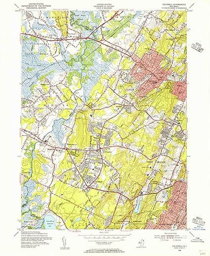 Caldwell New Jersey Map.Amazon Com Yellowmaps Caldwell Nj Topo Map 1 24000 Scale 7 5 X