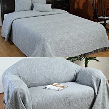 Homescapes Grey Silver XL Extra Large Size Nirvana Pure Cotton