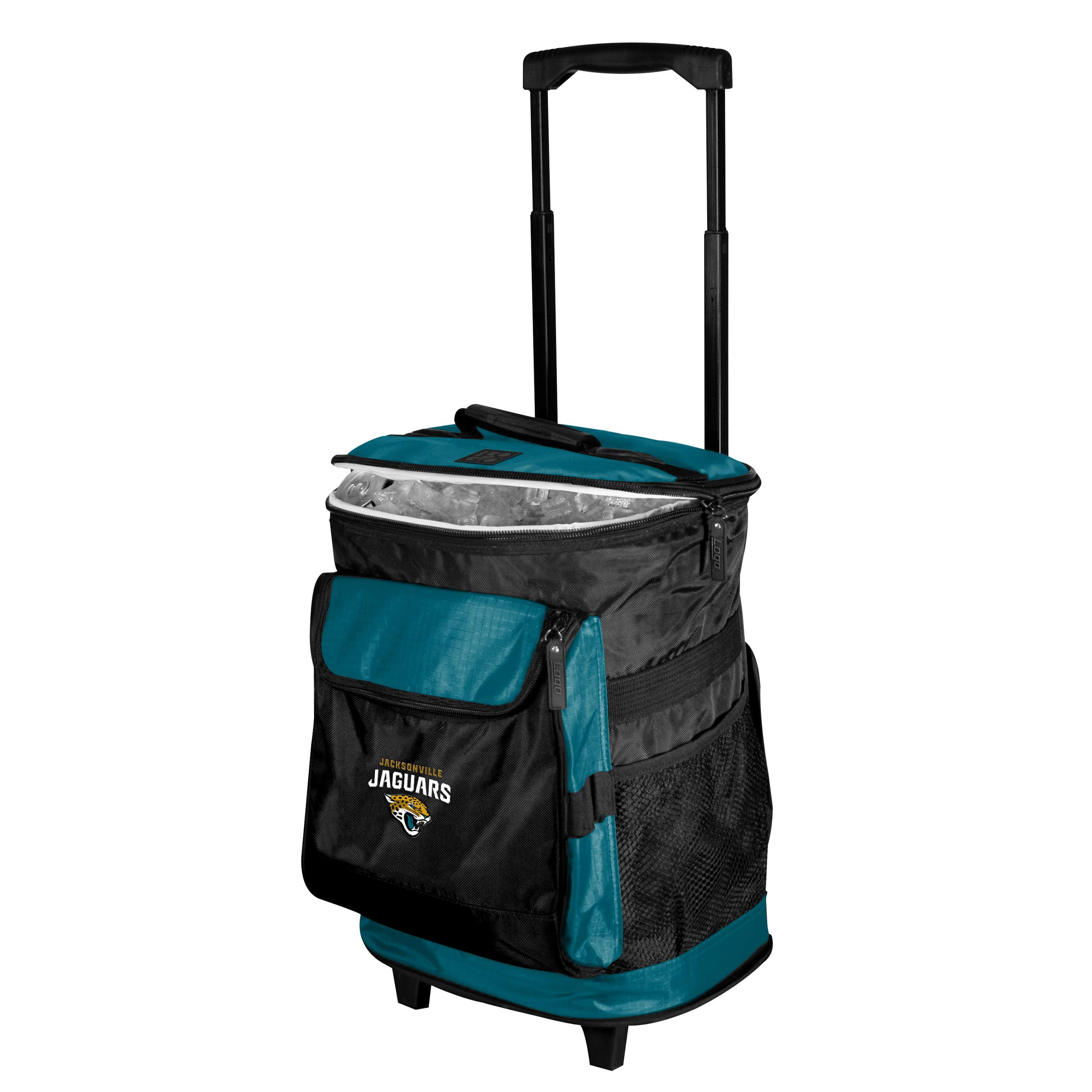 Logo Brands Jacksonville Jaguars 48-Can Rolling Cooler with Wheels and Backpack Straps