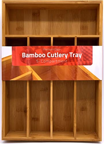 Utopia Kitchen Bamboo Cutlery Tray