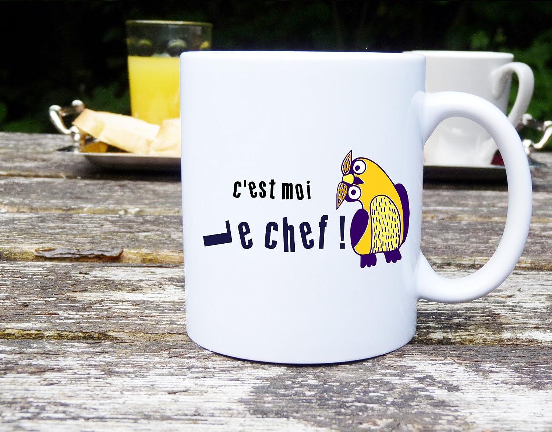Célèbre Mug c'est moi le chef, mug humour, mug personnalisé: Amazon.fr  UK23