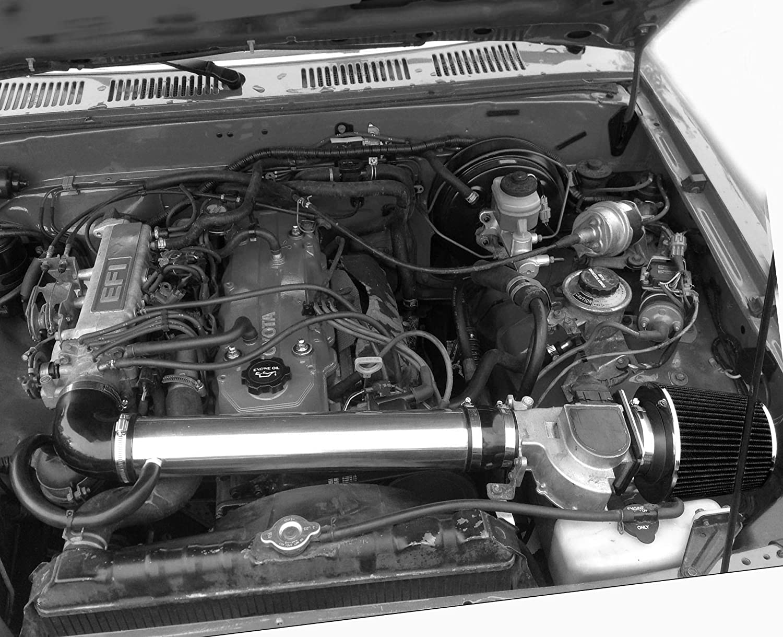 1990-1994 TOYOTA 4RUNNER 2.4L 4CYL ENGINE BLACK PERFORMANCE AIR INTAKE KIT FIT 1989-1994 TOYOTA PICKUP 2.4L