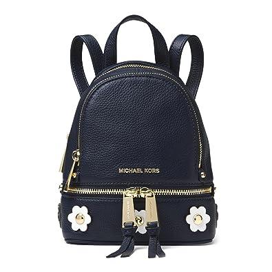 fd30d85e6760 ... discount michael michael kors rhea mini floral appliqué leather backpack  admiral blue 80ac4 096a4