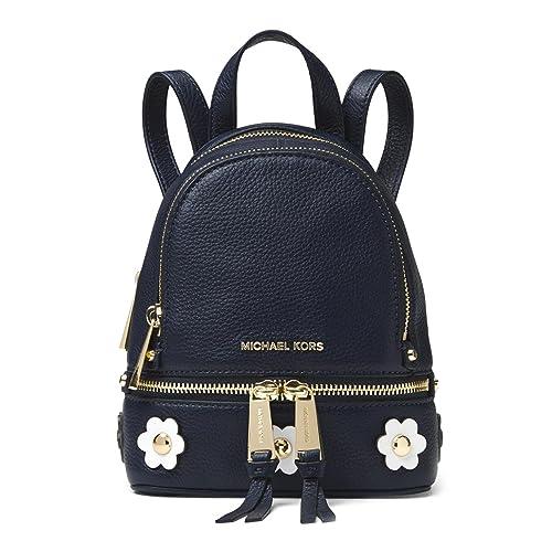 7fbeae3703f0 MICHAEL Michael Kors Rhea Mini Floral Appliqué Leather Backpack - Admiral  Blue: Amazon.ca: Shoes & Handbags