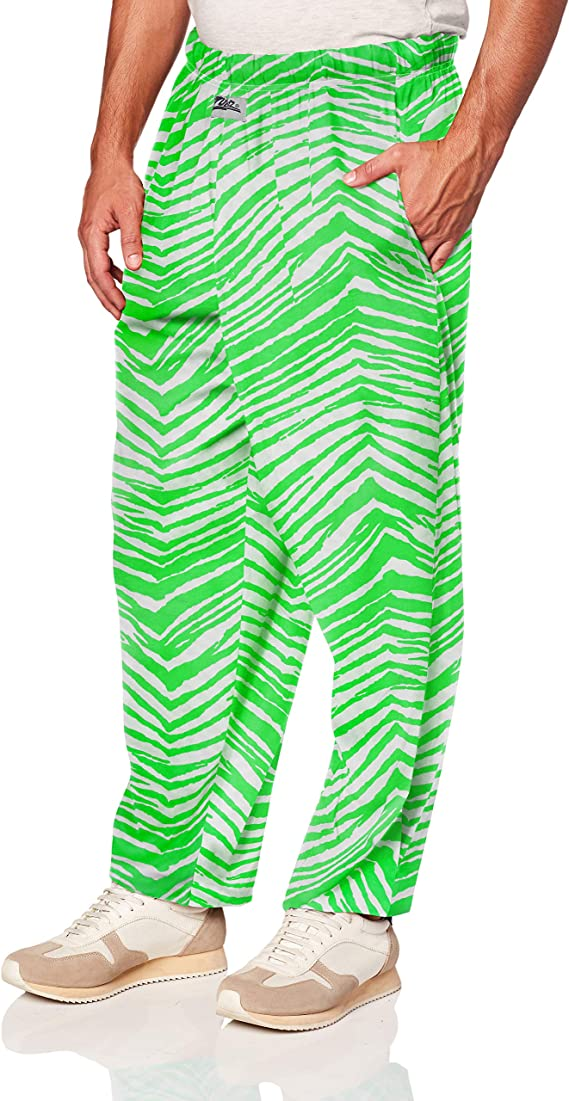 80s Mens Jeans, Pants, Parachute, Tracksuits Zubaz Mens Classic Printed Lounge Pants $29.99 AT vintagedancer.com