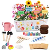 X TOYZ Flowers Planting Growing Kit , Gardening Plant Arts & Crafts Set, Kids Gardening Science Gifts for Girls and Boys 3+ A