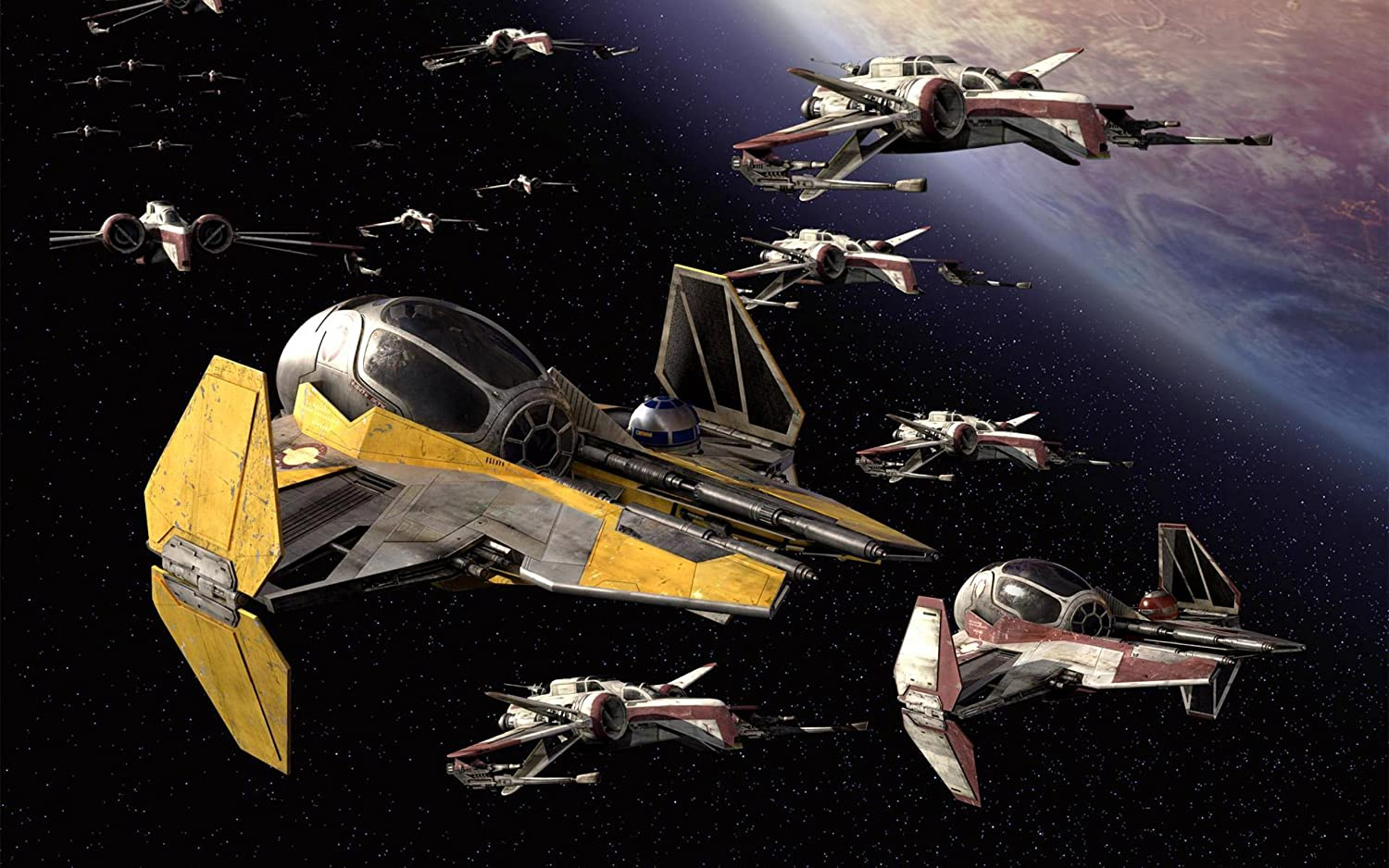 Posterhouzz Movie Star Wars Cgi Ship X Wing Planet Stars