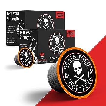 Death Wish Death Cup Single Serve K-Cup Coffee