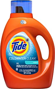 Tide Coldwater Clean Fresh Scent HE Turbo Clean Liquid Laundry Detergent, 92 oz, 59 loads (Packaging May Vary)