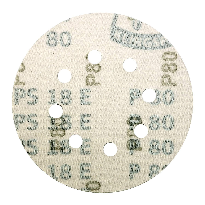 50 Discs Box Very Fine 125mm Sanding Discs KLINGSPOR 5 Sandpaper 8 Hole Pads GRIT 240