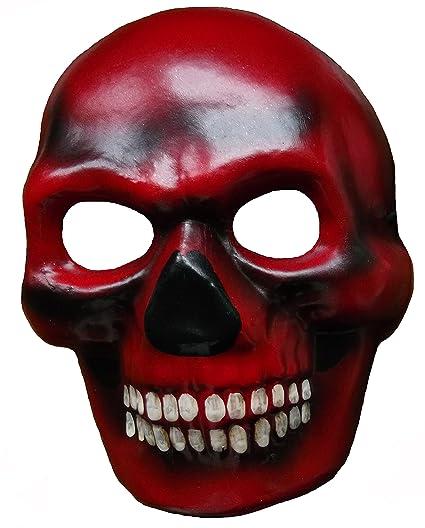 Jacobson Hat Company 27014 Red Devil Skull Mask Día de LA Máscara Muerta