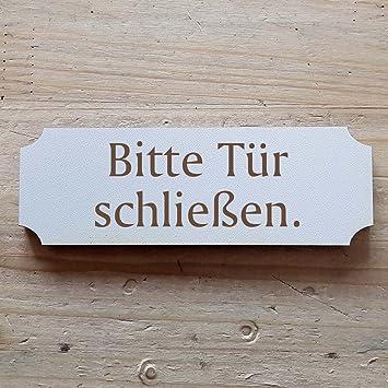 Schild Bitte Tur Schliessen 29 X 9 7 Cm Mit Motiv Dekoschild