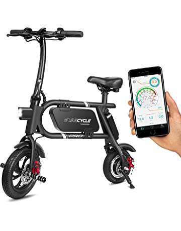 SwagCycle Pro Folding Electric Bike, Pedal Free and App Enabled, 18 mph E Bike