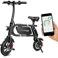 SwagCycle 18 mph Pro Folding Electric Bike With USB Port (Black)