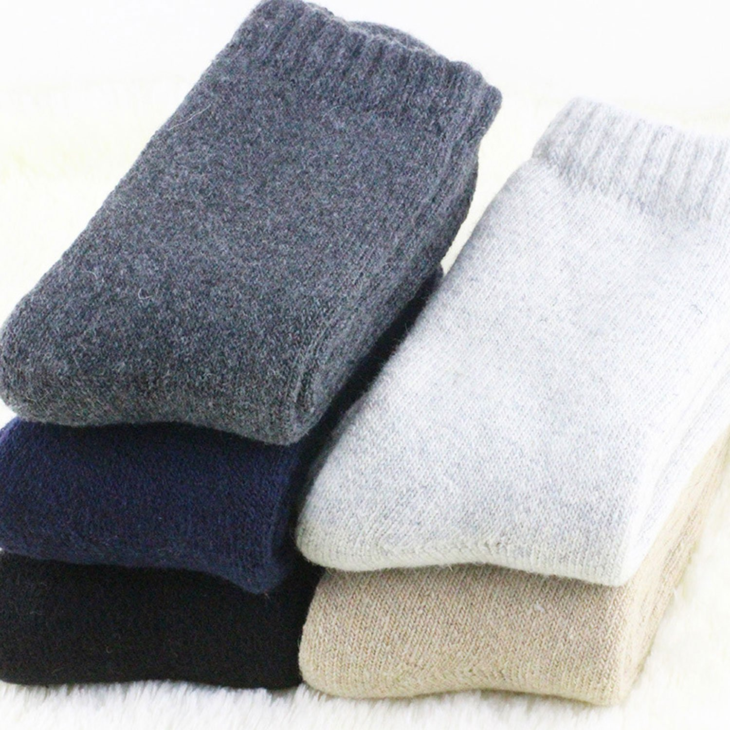 Amazon.com: Wool Socks Men Full Terry Winter Warm Calcetines Deporte Colorful Thick Mens Socks 552w (Navy): Clothing
