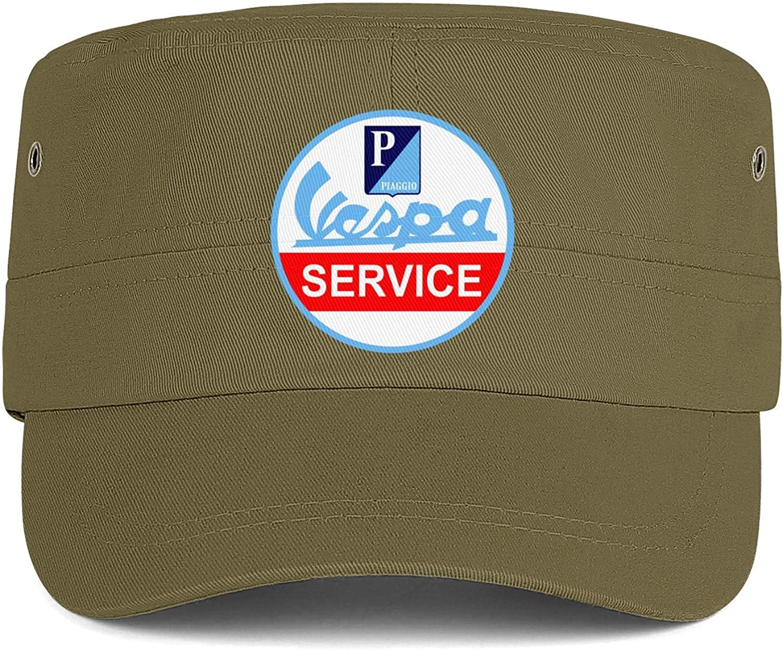 QFPMZJUIE Vespa-Logo Mens Woens Hats Snapback Military Cap Fitted Hat Printed Caps