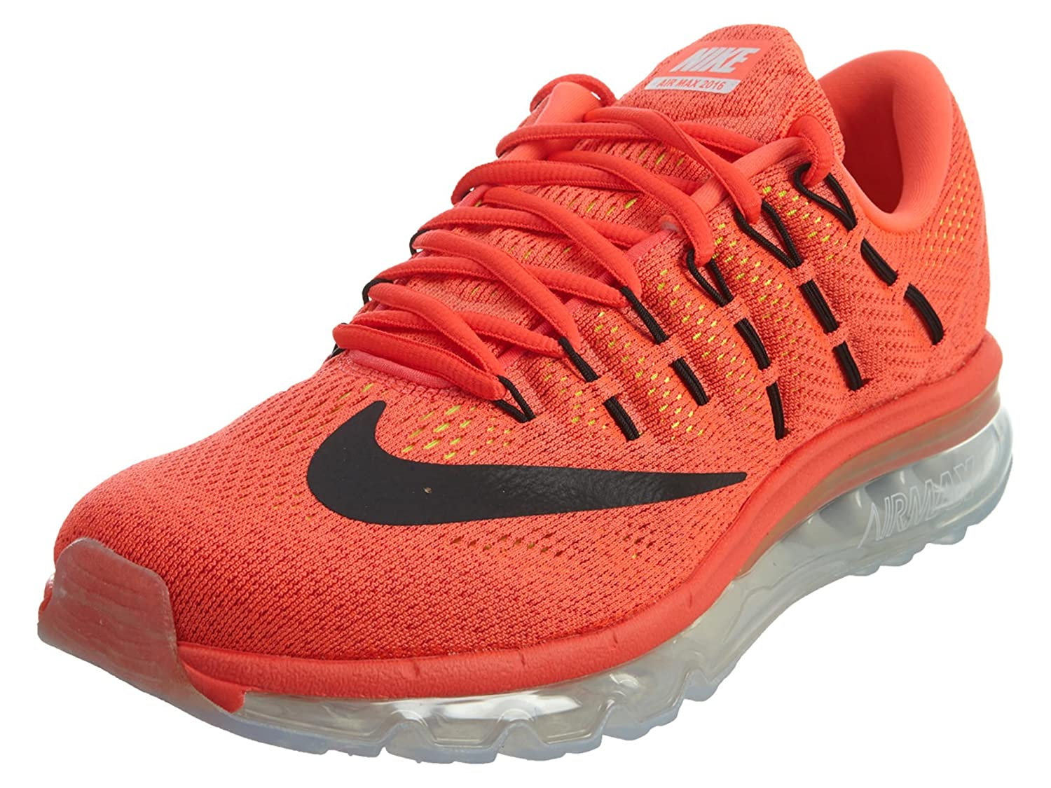 brand new 16f80 424c4 Nike Men s Air Max 2016 University Red, Bright Mango and Black Running Shoes  - 7 UK India (41 EU)(8 US)  Buy Online at Low Prices in India - Amazon.in