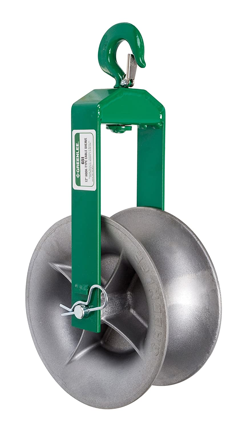Greenlee 651 Hook Sheave, 4000-Pound Capacity, 12-Inch - Rigging ...