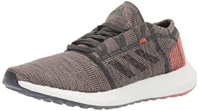 more photos d14ab 9f8ff adidas Men s Pureboost Go Running Shoe, Legend Ivy Black True Orange, 6