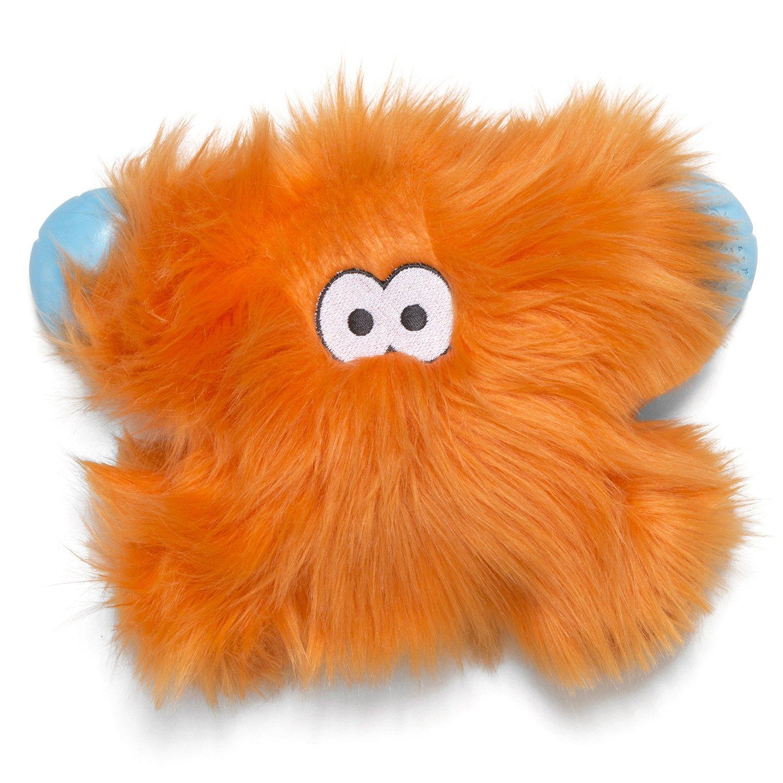 orange Fur West Paw Rowdies with HardyTex and Zogoflex, Durable Plush Dog Toy for Small Dogs, Fergus, 1 Piece
