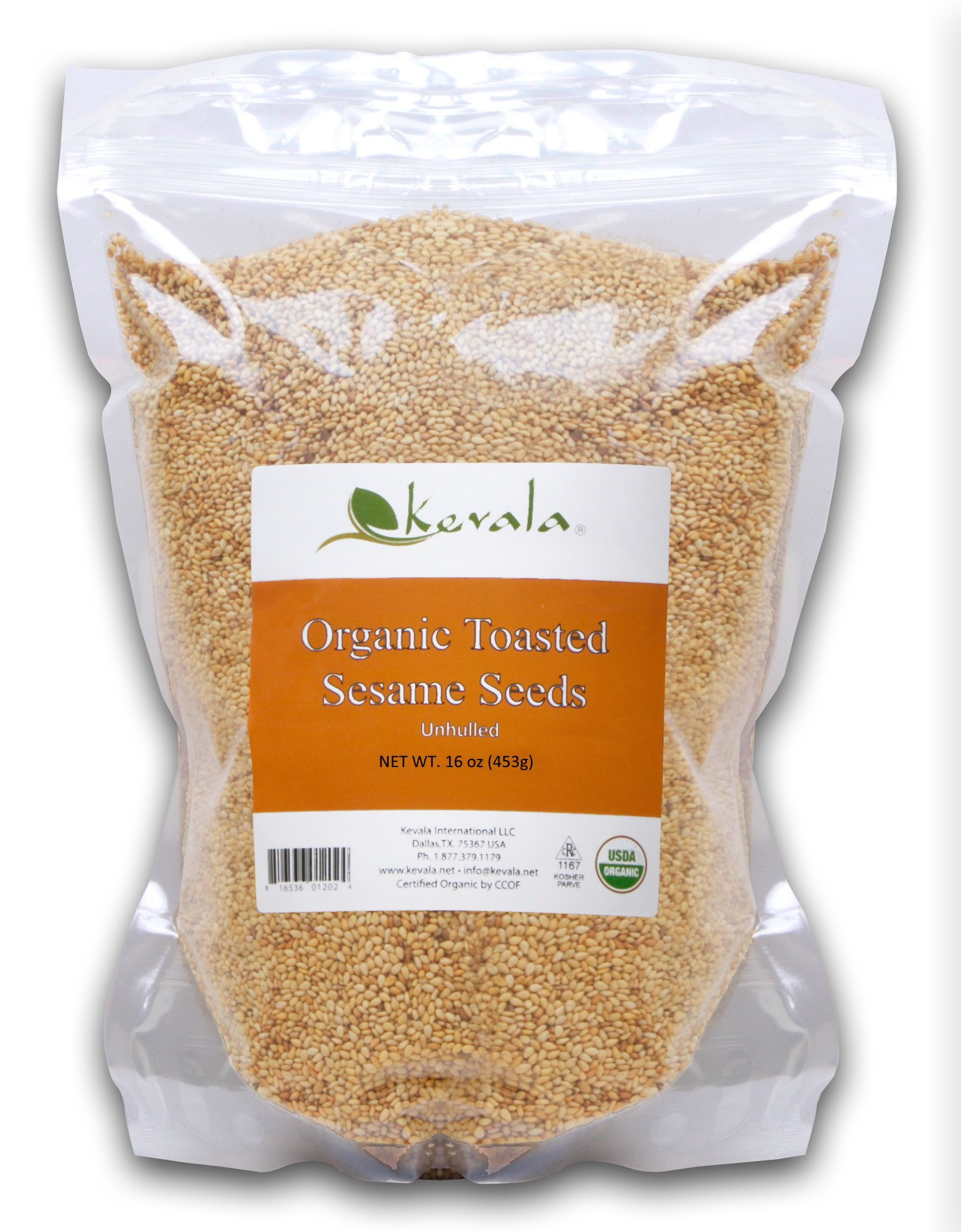 Kevala Organic Toasted Sesame Seeds 1Lb