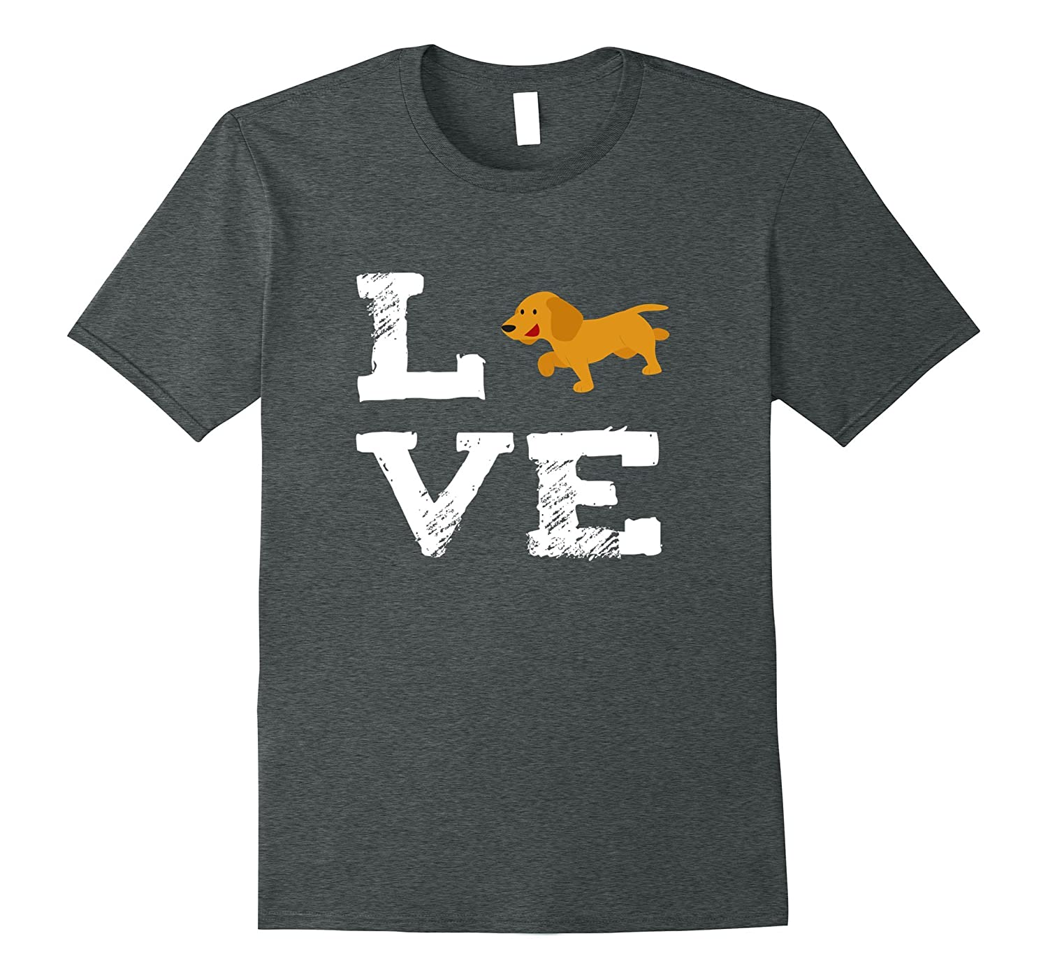 I Love Daschund T Shirt for Doxen and Dog Lovers-CD